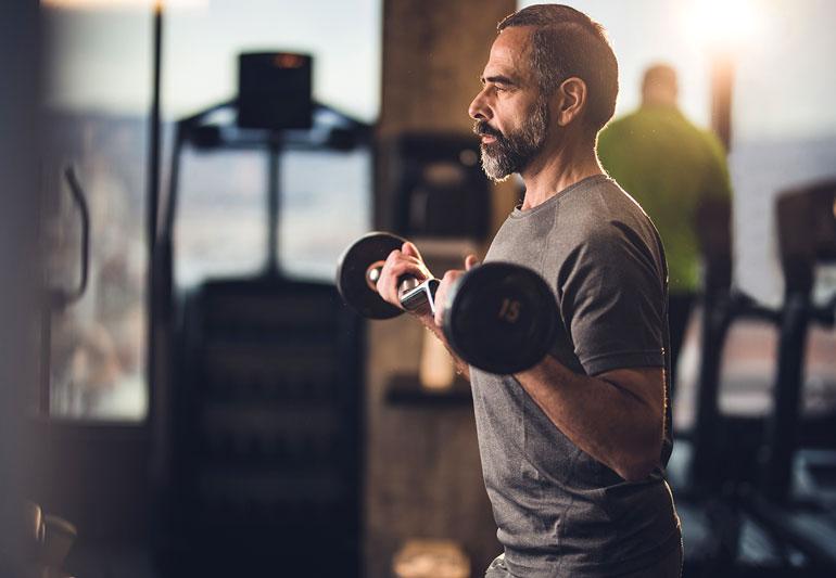 A man doing workouts